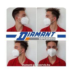 FFP2 szelep nélküli légzésvédő maszk