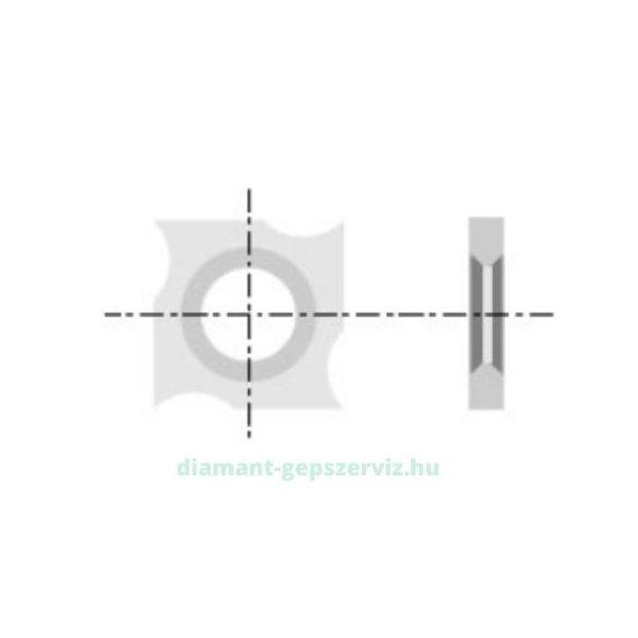 Cserelapka 18x18x1,95 35°
