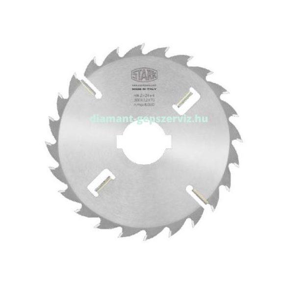 Stark sorozatvágó körfűrészlap oldalkihordóval D300 B3,2 b2,2 d70/80 Z24+4 t.max70 váltófogú