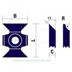 BSP Lapka 16x22x5 45° gömbölyítő 2034002 marófejhez