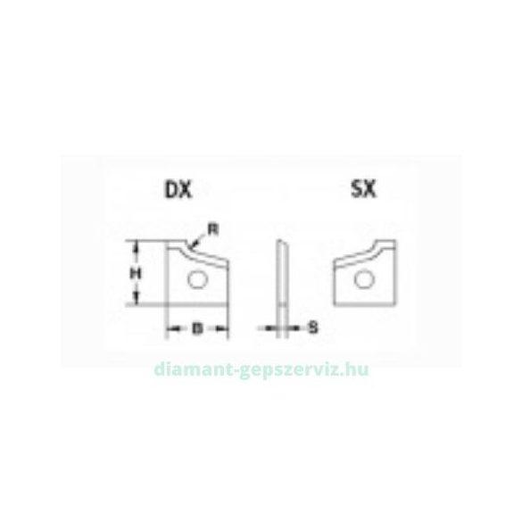 BSP Lapka 16*17*2 R2 élfóliázó lapka