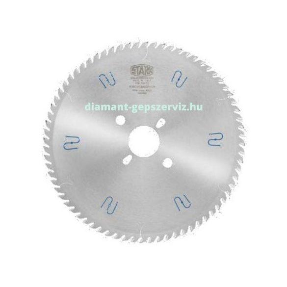 Stark körfűrészlap D350 B4,4 b3,2 d30 2/10/60 Z72 trapéz egyenes krómozott Panhan géphez