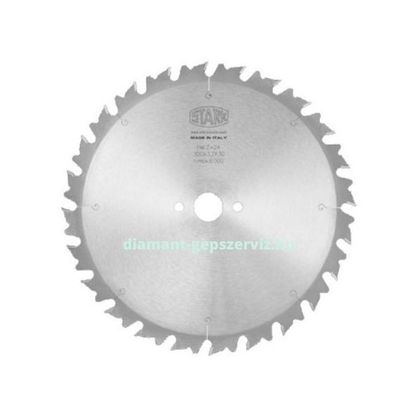 Stark sorozatvágó körfűrészlap vágásmélység határolóval D400 B3,8 b2,8 d30 Z32 t.max100 váltó