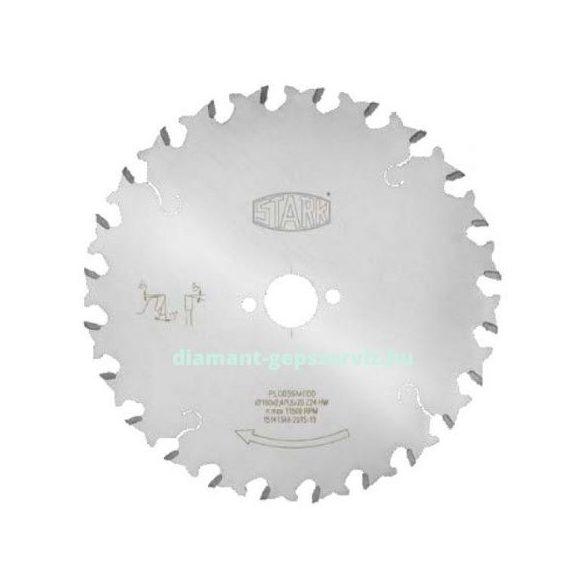 Stark sorozatvágó körfűrészlap gérvágóhoz D190 B2,4 b1,6 d30 PH2/6/42 Z12 váltófogú