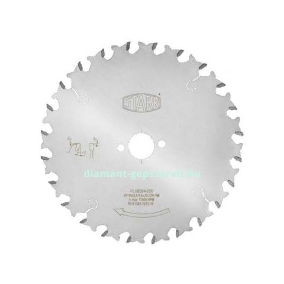 Stark sorozatvágó körfűrészlap gérvágóhoz D190 B2,4 b1,6 d30 PH2/6/42 Z24 váltófogú