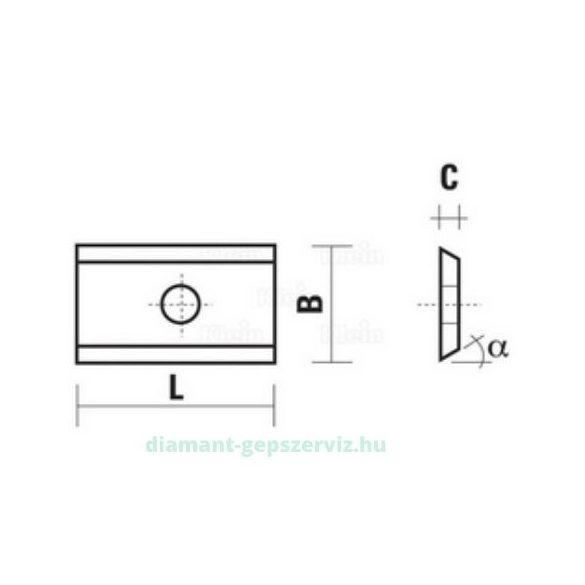 Klein lapka HM 10,5X12X1,5 35° HC05