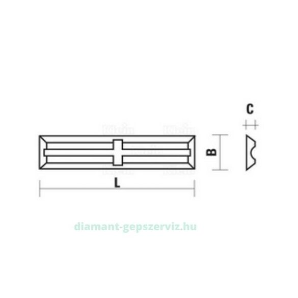 Klein lapka 20X5.5X1.1 35° HC05 MINI SC. POST.