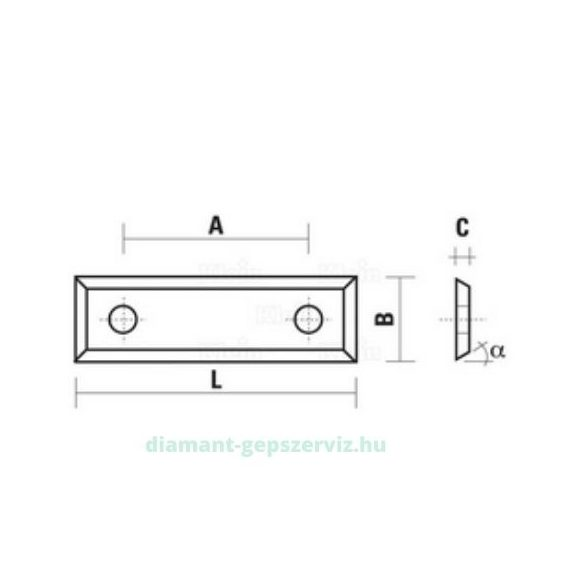 Klein lapka HM 29.5X9X1.5 35° HC05 A=14