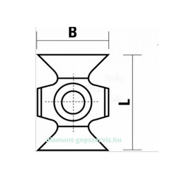 Klein lapka 16X22X5 ANG=45° HC20