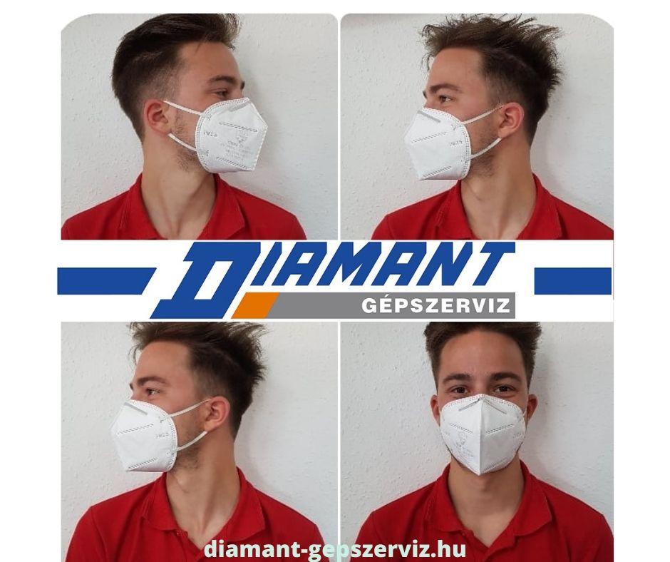 FFP2 szelep nélküli légzésvédő maszkok érkeztek!
